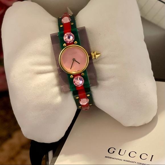 BNWT GUCCI Ladies Vintage Web Bangle Watch